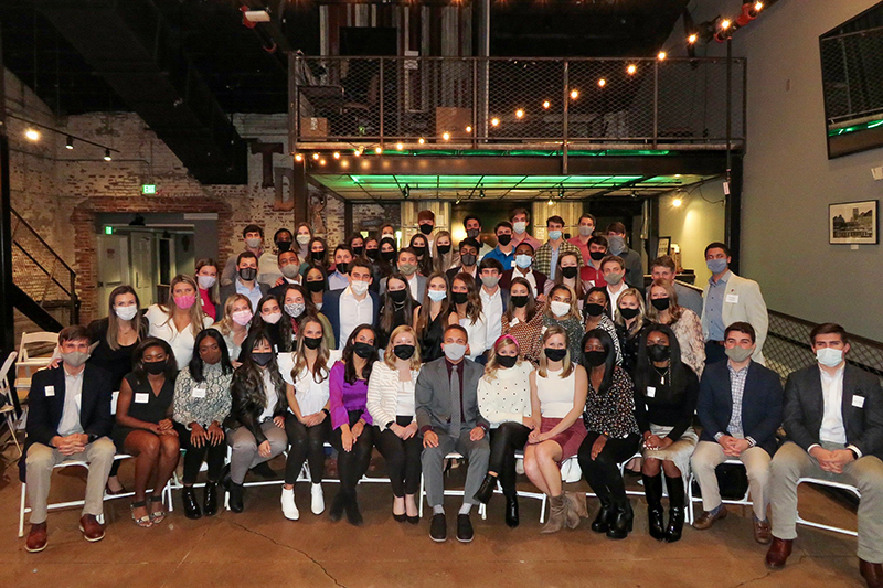 A Capstone men and women group photo